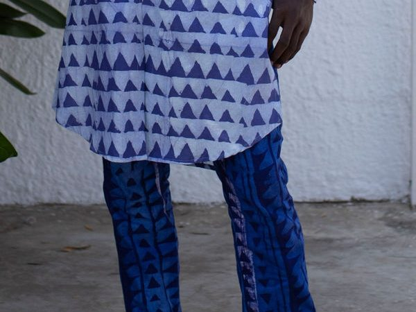 Estampas geométricas na moda masculina
